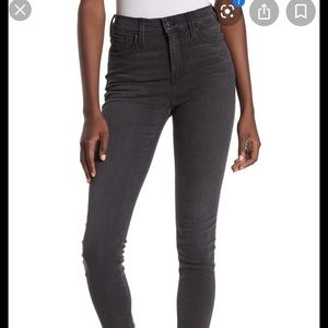 High waisted madewell black washed jeans